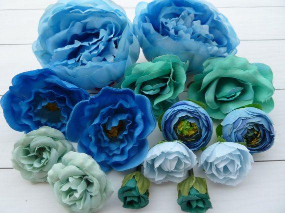 Set 14pcs flowers for holiday decorhair от VitasjaCrochet на Etsy