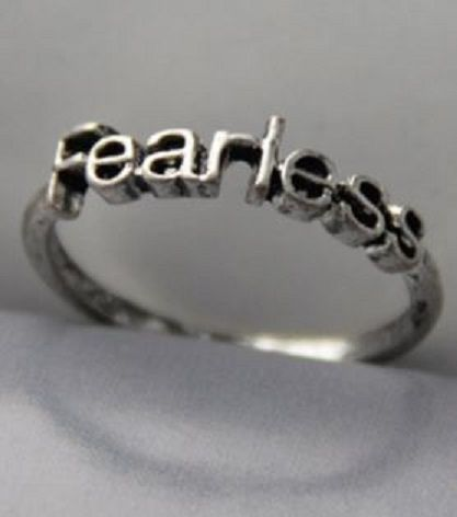 Love this little Fearless ring! Silver Color Stylish Letter Fearless Embellished Women's Ring #Silver #Fearless #Quotes #Words #Sayings #Fashion #Jewelry #Gift #Ideas