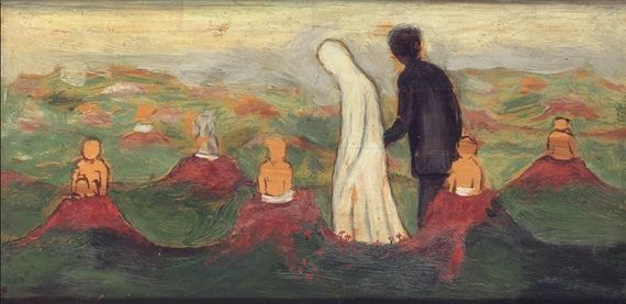 Artwork by Hugo Simberg, LAPSEN VALINTA (CHOOSING A CHILD)