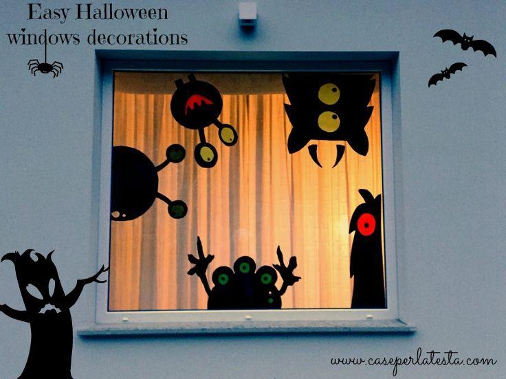 Decori per  finestre ad Halloween * Halloween window decorations