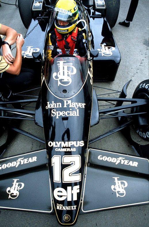 Ayrton Senna, black & gold John Player Special, Lotus-Renault 98T 1986