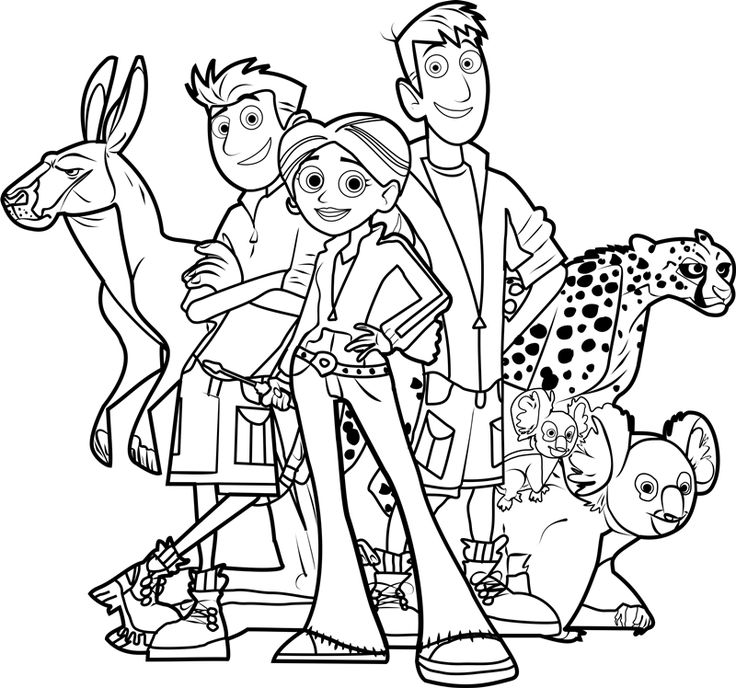 Wild Kratts Coloring Pages Movies