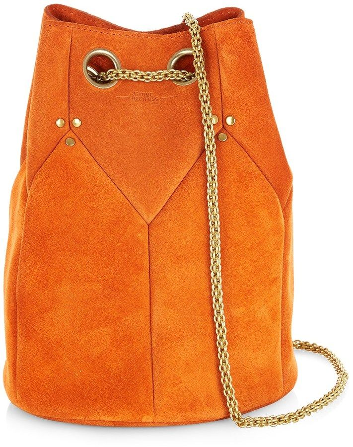 I ❤ COLOR NARANJA ❤ Jérôme Dreyfuss Orange Suede Popeye Shoulder Bag