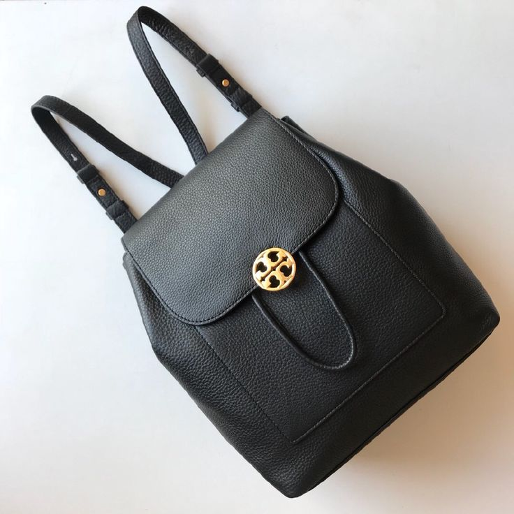 Tory Burch outlet women's backpack bag black brown
