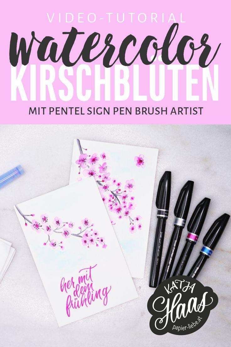 Aquarellieren Und Lettern Mit Dem Sign Pen Brush Artist Inkl