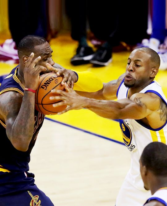 Iggy stripping the ball LeBron. 2016 NBA Finals Game 1 ...