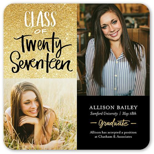 Glistening Graduate 5x5 Graduation Announcements Cards Graduation
