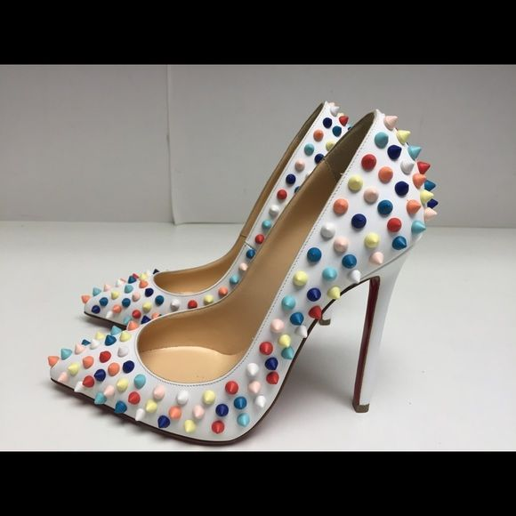 Christian Louboutin White Leather Pigalle 37