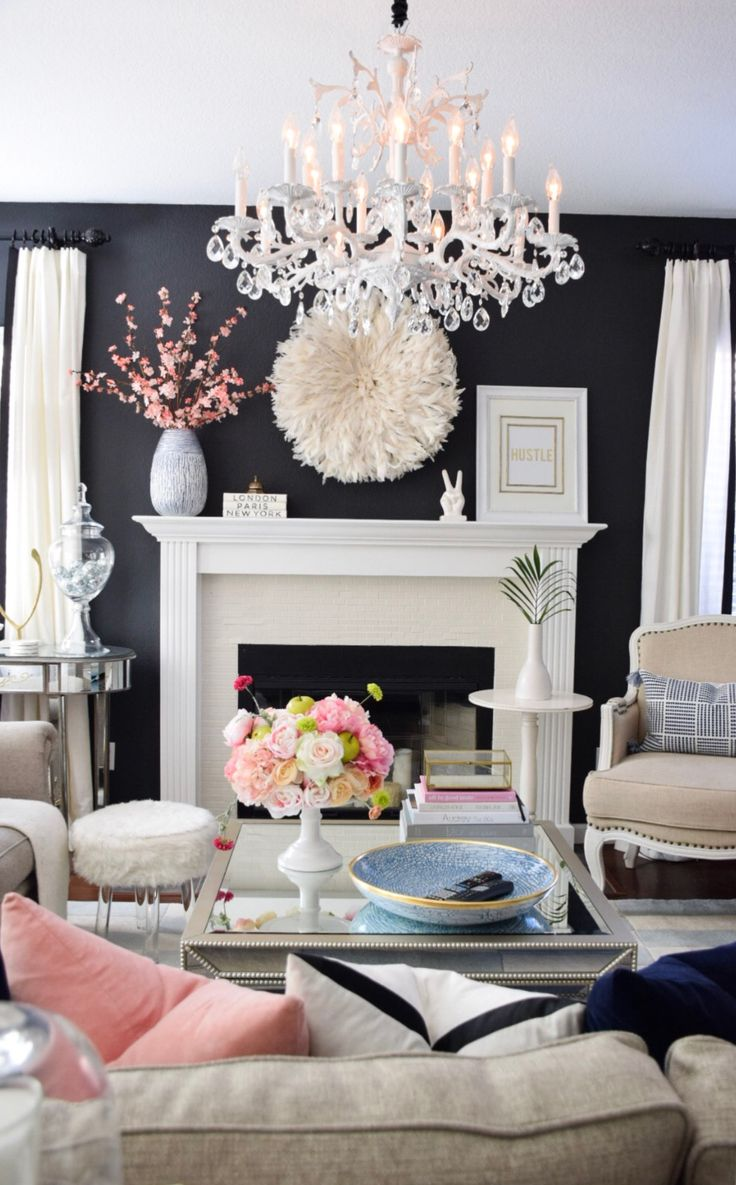 Not coastal, which is my favorite style, but there is something beautiful and chic about this room.
