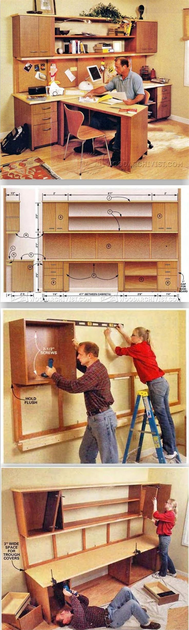 Home Office Furniture Plans - Furniture Plans and Projects   WoodArchivist.com