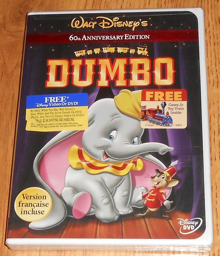 Dumbo Dvd 2001 60th Anniversary Edition New Sealed
