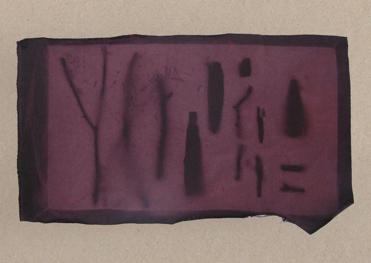http://elinalaitinen.fi/ Sun-bleached fabric sample by Elina Laitinen