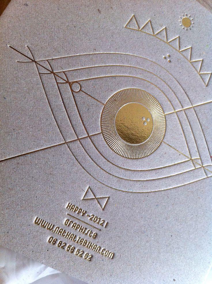 Print : Badcass - Design : Nathalie Bihan - Carte de visite en letterpress - #dorure #marquageàchaud