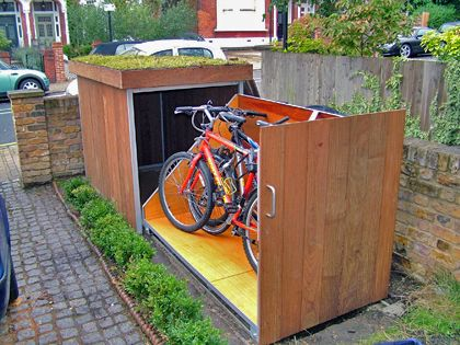 Uitschuifbaar fietsenrek / Bike storage - tuinieren.nl