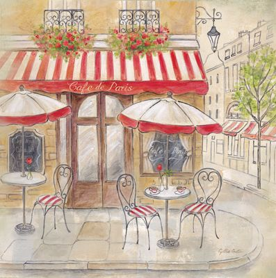 Paris Cafe III  Cynthia Coulter