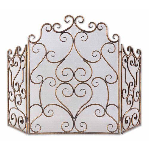 bellacor 217 kora fireplace screen uttermost screens fireplace accessories home decor