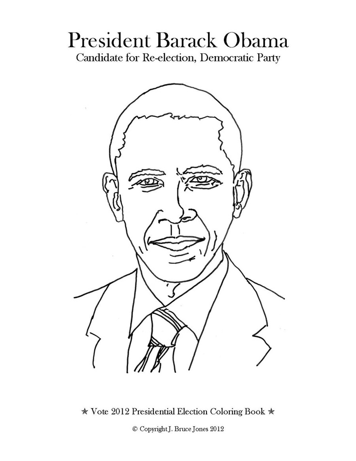 free coloring pages of barack obama | 64 best images about coloring on Pinterest | Around the ...