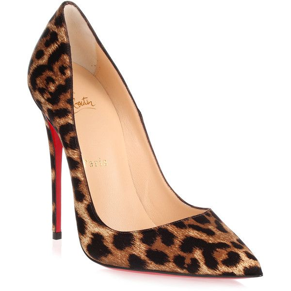 5673b764e6d So Kate 120 Satin Leopard Pump ( 650) ❤ liked on Polyvore featuring shoes
