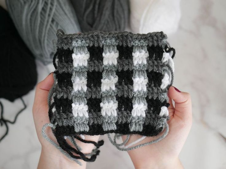The plaid crochet stitch is much easier than it looks, and whips up in a flash!