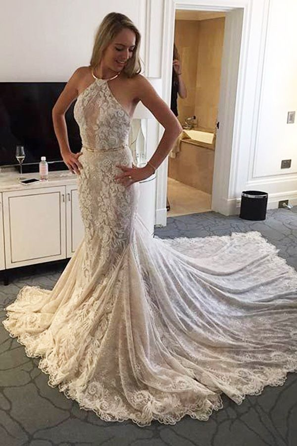17 Best ideas about Halter Wedding Dresses on Pinterest | Halter ...