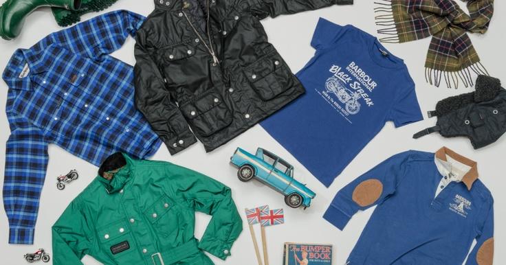 #Barbour #moodboard #wax #jacket #tshirt #wellies #hat #boys #kids