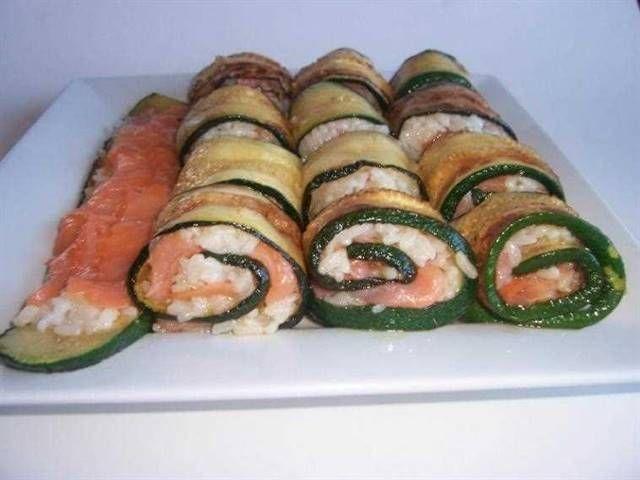Rollitos de calabacín y salmón ahumado. Un entrante que sorprenderá a tus invitados.
