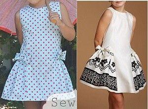 Выкройка летнего детского платья на возраст от 1 года до 16 лет (Шитье и крой)   Журнал Вдохновение Рукодельницы