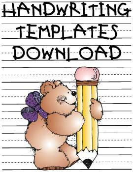 handwriting templates downloads - Re-pinned by #PediaStaff.  Visit http://ht.ly/63sNt for all our pediatric therapy pins
