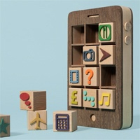 Wooden Smartphone With Removable Toy Block Apps