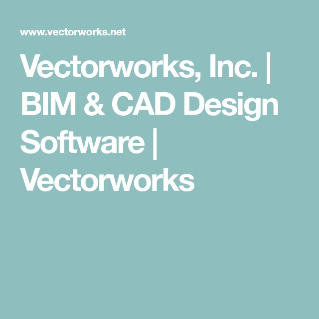 Vectorworks, Inc. | BIM & CAD Design Software | Vectorworks