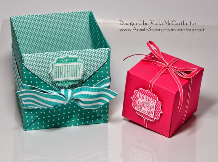 34 best Stampin' Up! Gift Box Punch Board images on Pinterest ...