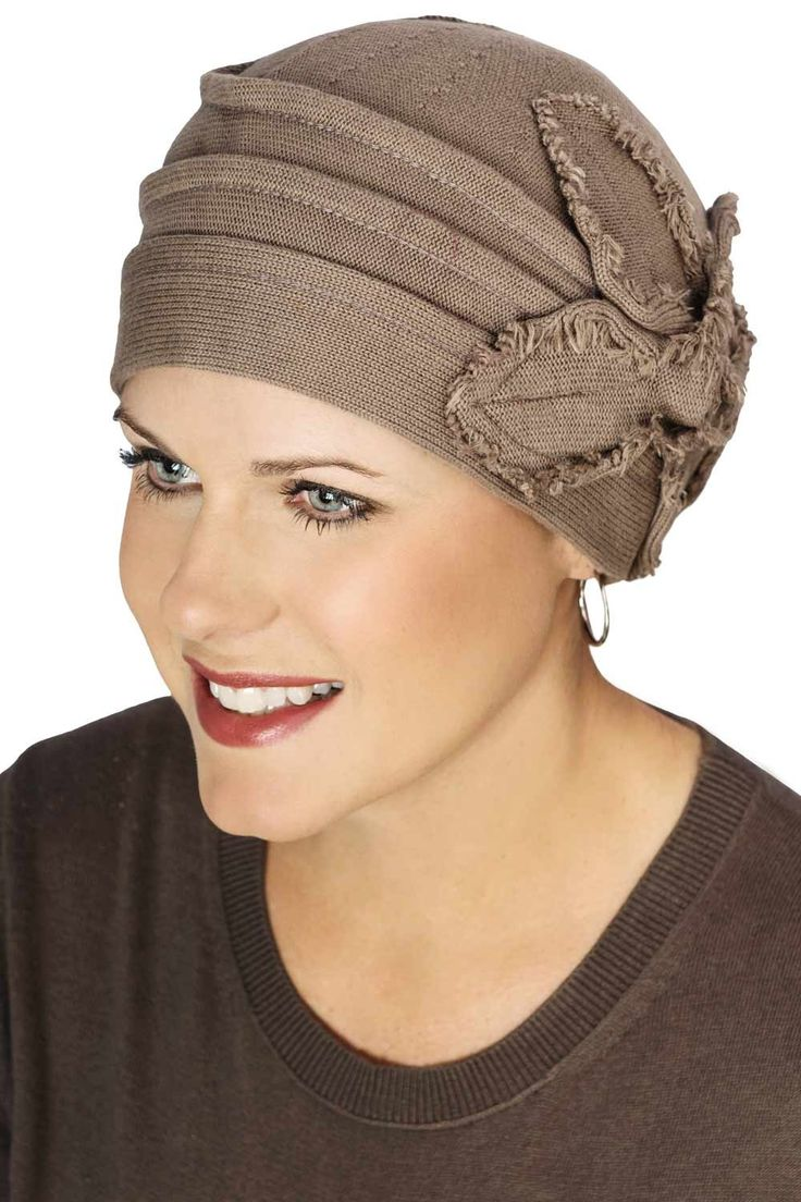 Butterfly Fringe Beanie Hats for Cancer Patients -Chemo Hats for Women