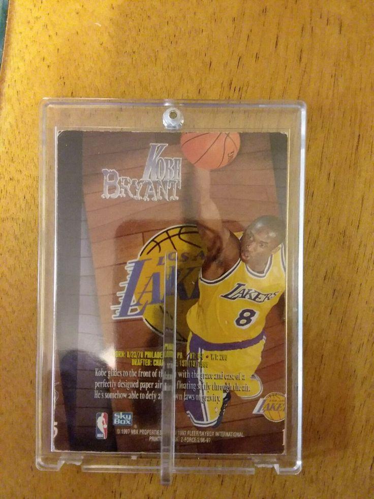 199697 fleer zforce kobe bryant basketball card rookie