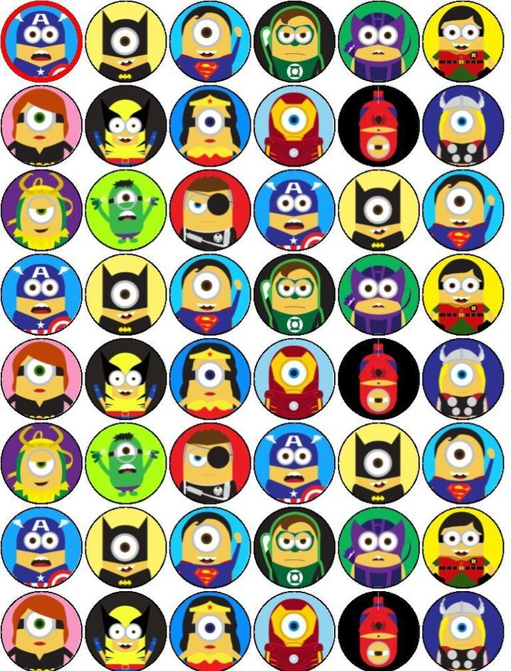 superhero cake toppers 17 best images about minions despicable me printables on 7842