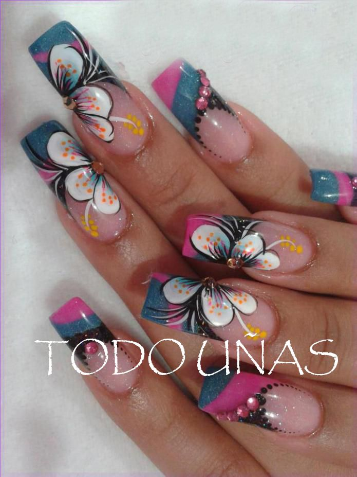 40 best images about nails art on pinterest nail art - Decoracion de unas gel ...