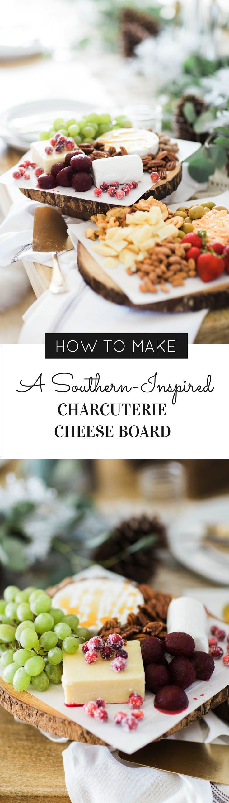 How to Make An EPIC Southern-Inspired Charcuterie Cheese Board (the easy way). Click through for the how-to. | DIY party ideas | entertaining tips and tricks | party food and recipes | glitterinc.com | @glitterinc
