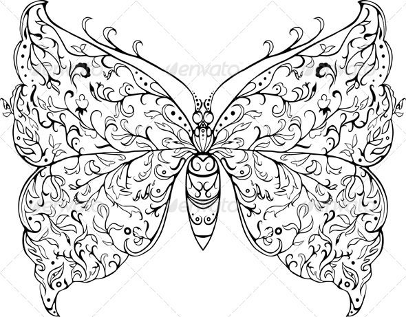 Floral Butterfly - Animals Characters