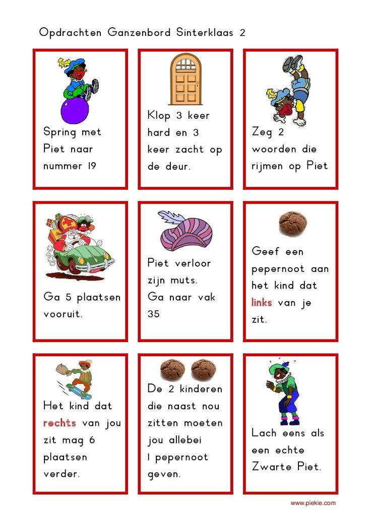 * Sinterklaas ganzenbord! Spelkaartjes! 4-4 http://www.piekie.com/thema/thema-s/sinterklaas-2/gezelschapsspellen-41/ganzenbord-sint-opdrachtkaarten