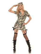 Buy our sexy army girls costume that is a lace up ...