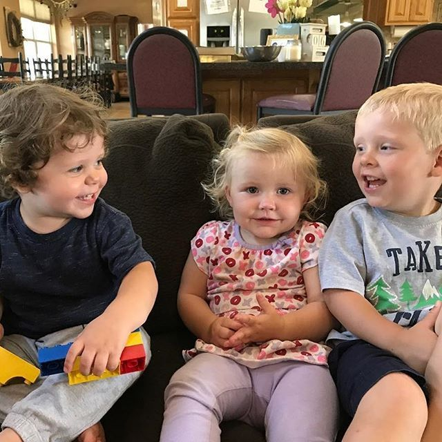 Cousin Love  Spurgeon, Meredith, & Israel were all born in 2015 so they're super close in age!