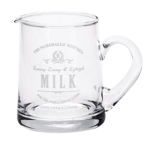 Glass Milk Cup BRAND NEW TODAY