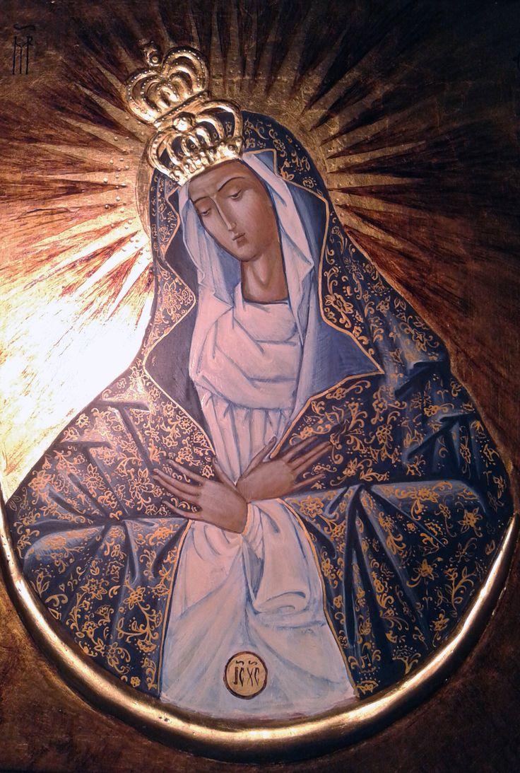 Matka Boska Ostrobramska Pracownia ikon Serca Jezusowego Katarzyna Perkowska