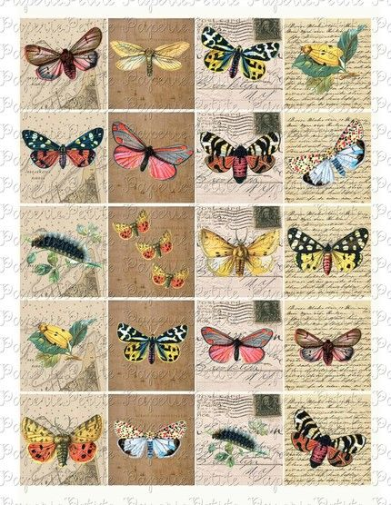 Free Printable Collage Sheets | ... Digital Download Collage Sheet by petitepaperie on Etsy | Craft Juice