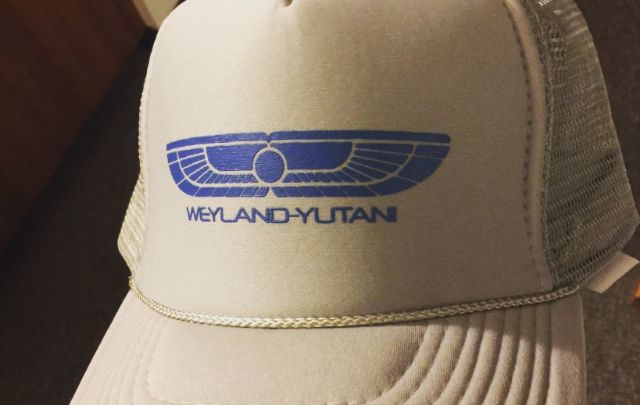 Weyland-Yutani ball caps handed out at Alien: Covenant preview event!