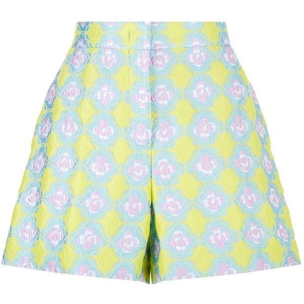 Emilio Pucci Jacquard Patterned Shorts ($980) ❤ liked on Polyvore featuring shorts, pastel shorts, emilio pucci, floral pattern shorts, flower print shorts and floral shorts