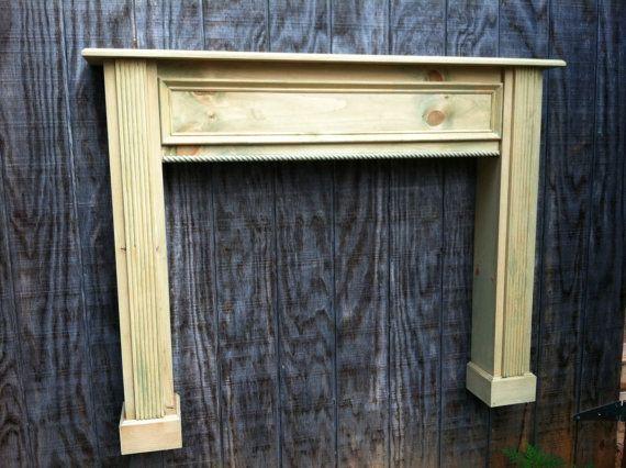 Vintage distressed Fireplace mantel display shelf