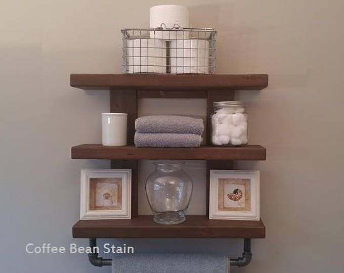 Wooden Bathroom Towel Rack, Rustic 3 Tier Bathroom Shelves, Wooden Bathroom  Organizer, Rustic