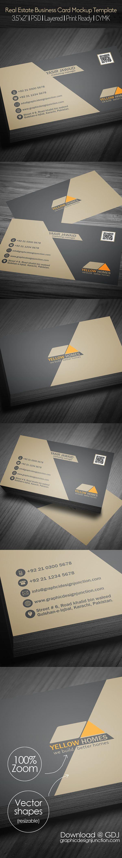 Real Estate Business Card PSD Template (Freebie) #businesscard #freebies #psdtemplate #visitingcards #graphicdesign