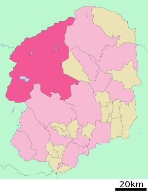 Lage Nikkōs in der Präfektur