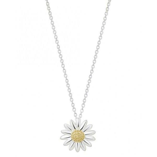 Daisy London Daisy Pendant In Sterling Silver ($100) ❤ liked on Polyvore featuring jewelry, necklaces, accessories, silver, clasp charms, sterling silver jewelry, daisy pendant, chains jewelry and chain pendants